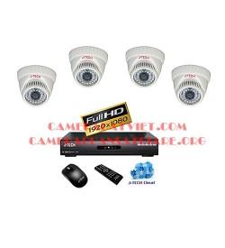 Trọn bộ 4 camera J-Tech chuẩn AHD JT_AHD320