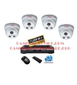 Trọn bộ 4 camera J-Tech chuẩn AHD JT_AHD330