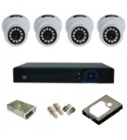 Trọn bộ 4 camera IP Questek VDT-9412IP