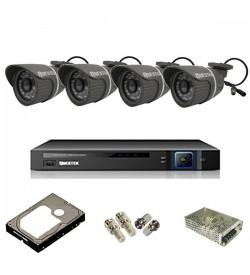 Trọn bộ 4 camera chuẩn AHD Questek TB4-2121AHD